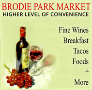 Shop Brodie Park Market in South Austin for Fine Wines, Foods, Convenience and Breafast Tacos